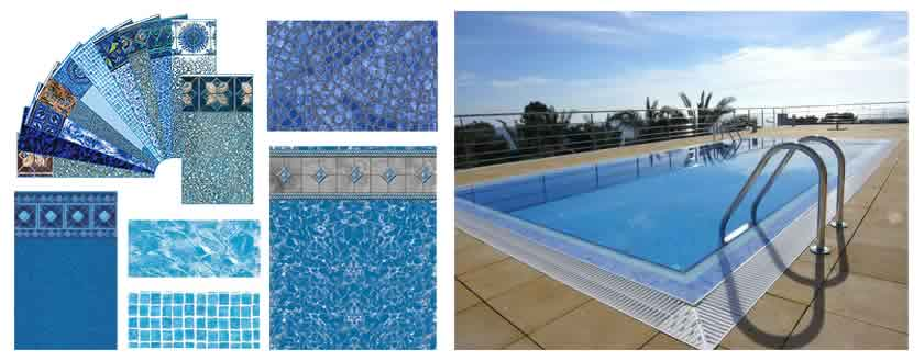 Liner armado piscina sfica for Materiales para piscinas